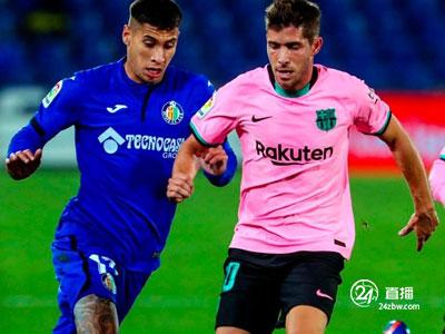 梅西门柱,德容送点,巴塞罗那客场0-1不敌赫塔费