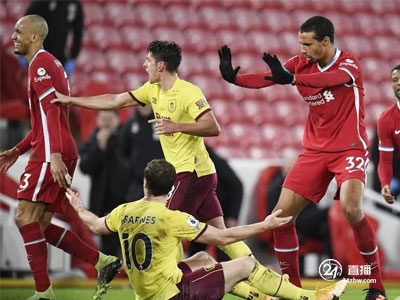 奥里吉单杆失利,艾莉森送出一分,利物浦主场1:0负于伯恩利
