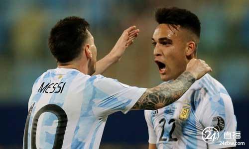 美洲杯:梅西进3球,劳塔罗进球,阿根廷3:0击败厄瓜多尔