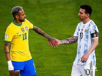梅西和内马尔被正式评为美洲杯最佳球员