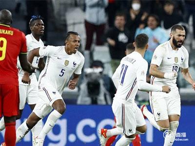 本泽马和姆巴佩得分,特奥会获胜,法国队以3-2逆转比利时队,晋级欧足联决赛